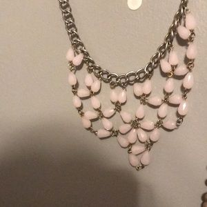 Pink earth stone jewel 💎 necklace